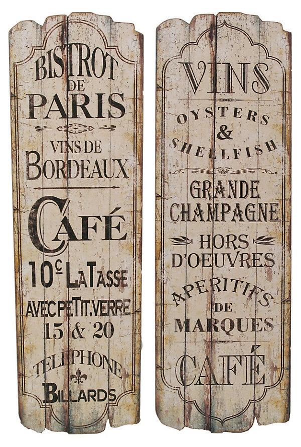One Kings Lane - The Cozy Kitchen - Paris Cafe Wall Art