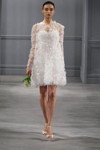 весна 2014 - короткое свадебное платье spring 20145monique Lhuillier Spring/Summer 2014 Wedding Dresses!!!