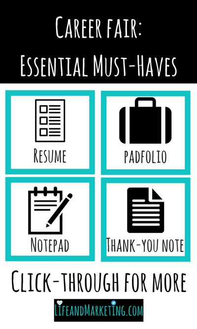 You want to be prepared when you go to a career fair. These are the essential must-haves you need for your career fair.
