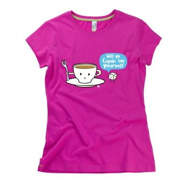 Cupán Tae Yourself Ladies T-Shirt by HairyBaby