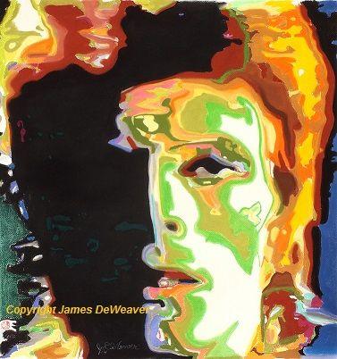 #Icon #musician #artist David Bowie #pastel #art #portrait as #ziggystardust #origjnalart only @ jamesdeweaver.com.au $40