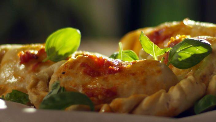 Bread pockets with cheese | Italian recipes | SBS Food