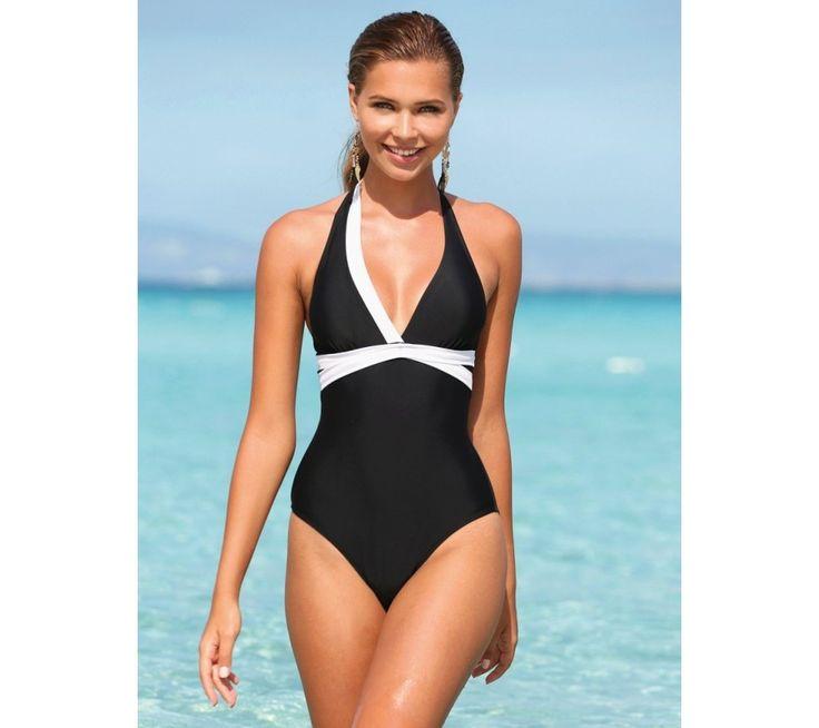Jednodílné dvoubarevné plavky | modino.cz  #ModinoCZ #modino_cz #modino_style #style #fashion #spring #summer #swimsuit