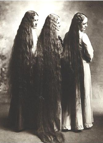 My grandmother's hair was this long.  I have several photographs of her, sitting and standing.  So cool!