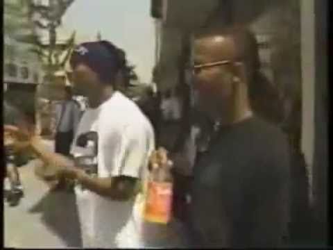2Pac Confronts A Mean Muggin' Kid Protecting His Corner Rap City 1993 - YouTube