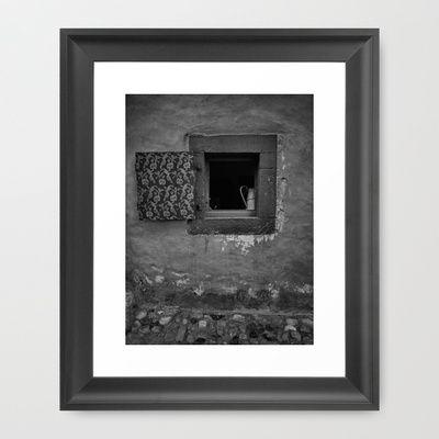 Old Window Framed Art Print by Rainer Steinke - $40.00