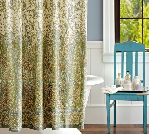 Colette Paisley Shower Curtain From Pottery Barn For The Home Pinterest Shower Curtains