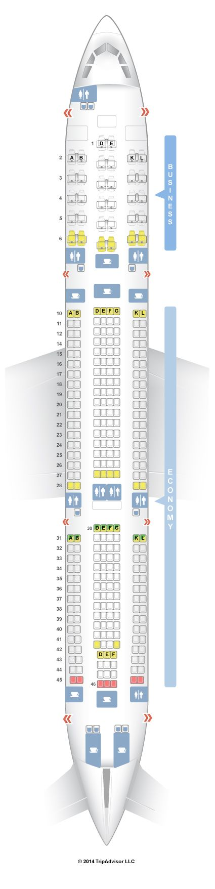 SeatGuru Seat Map Air Tahiti Nui Airbus A340-300 (343)