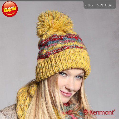 Праздничная распродажа новое поступление женщин женская мода шапочка Hat ручной вязки горчично-желтый горячая акция 1240 - 40
