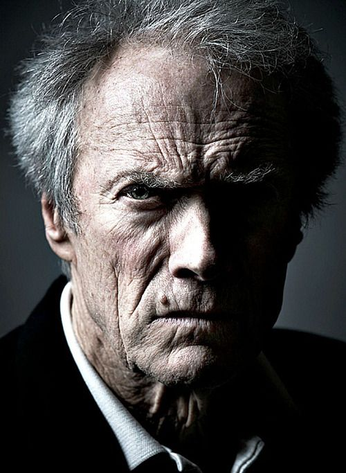 This is a creepy picture of the great Clint Eastwood but he is such a great actor and director!