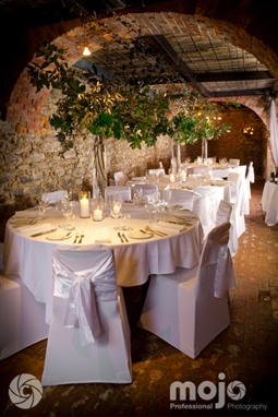 Special Touch weddings & event services transforms the cellar at Peppers