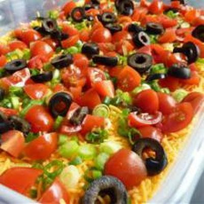 Taco Dip 7 Layer | appetizer | Pinterest