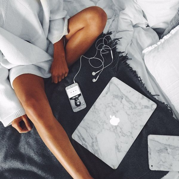 Marble MacBook Skin - White