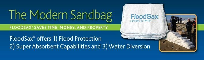 The modern sandbag - sandless sandbag - sandbag alternative - Ready in 5 minutes