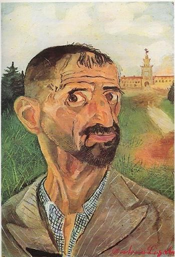 Antonio Ligabue (Zurigo 1899 - Gualtieri 1965) olio su compensato (52x36)