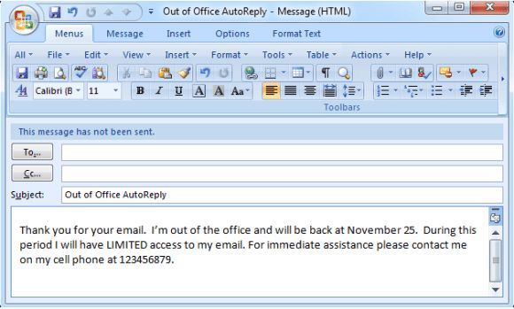 Set Out of Office (Auto Reply) in Outlook 2003, 2007, 2010, 2013 and 2016 #replying #to #an #email http://reply.remmont.com/set-out-of-office-auto-reply-in-outlook-2003-2007-2010-2013-and-2016-replying-to-an-email/  How to Set Out of Office (Auto Reply) in Outlook 2003, 2007, 2010, 2013 and 2016 The following instruction is fit for Outlook 2003 and 2007. It is also fit for Outlook 2010 and 2013 without Exchange Server. If your email account is connecting to Microsoft Exchange Server, please…