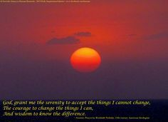"""Daily Inspirational Quote # 26 - Juma'a Mubarak! Amidst all the craziness that we face in our daily lives, the Serenity Prayer always hits home... """"God, grant me the serenity to accept the things I cannot change, The courage to change the things I can, And the wisdom to know the difference."""" ... Omani sunsets are among the most beautiful I have ever seen. This photo was taken with my cell phone. — in Oman."""