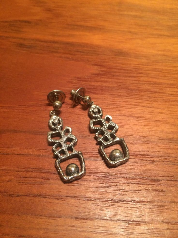 Brutalist Style Earrings by Guy Vidal Montreal Canada