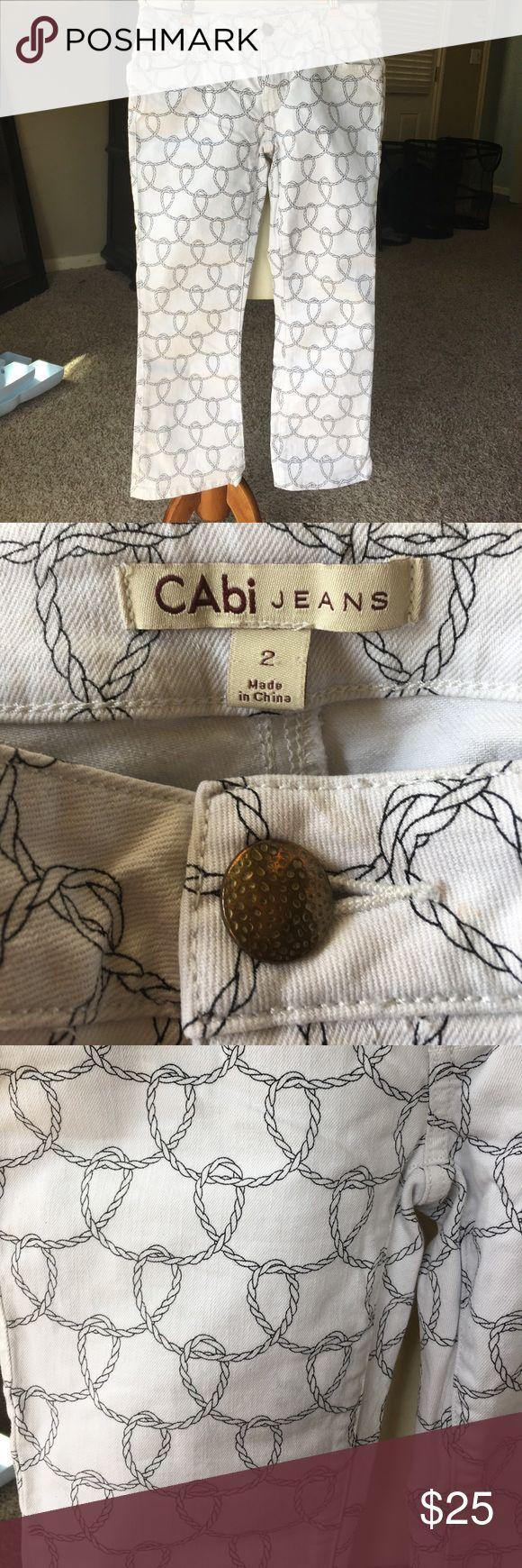 Cabi white rope nautical jean capris size 2 Cabi white rope nautical jean capris size 2 #761 CAbi Jeans Ankle & Cropped