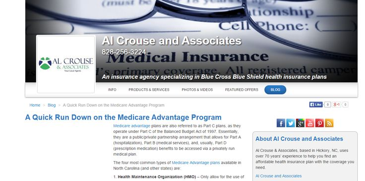 A Quick Run Down on the Medicare Advantage Program; blog post for Al Crouse and Associates (USA)    #wordtiffie  Need similar (or other copywriting/web content) work done?  Contact me - darrell@wordtiffie.co.za