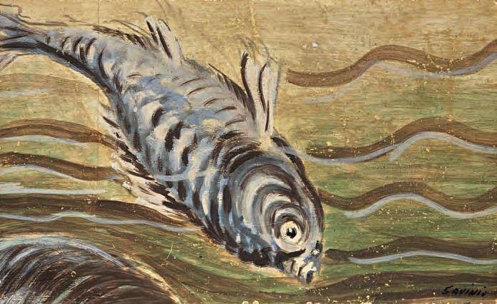 1949  - Il pesce, Alberto Savinio, Atene 1891 - Roma 1952.