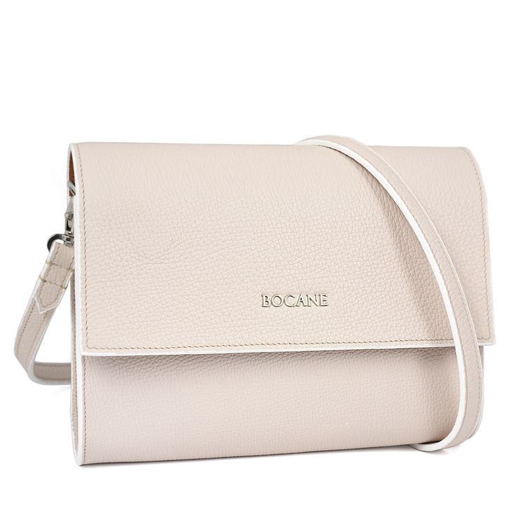"Leather Bag ""Simplicity"" in Ivory 