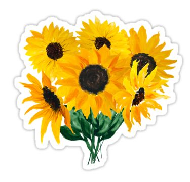 Painted sunflower bouquet • Also buy this artwork on stickers, apparel, phone cases, and more.