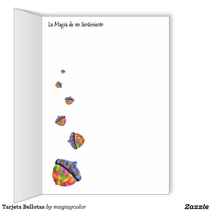 Tarjeta Bellotas - Acorn Card - #Shop #Gift #Tienda #Regalos #Diseño #Design #LaMagiaDeUnSentimiento #MaderaYManchas #colors #card #acorn #tarjeta #bellota #colores #MagiaYColor