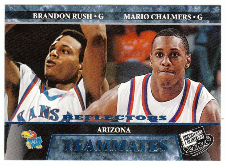 Brandon Rush / Mario Chalmers # 60 - 2008 Press Pass Basketball Reflector