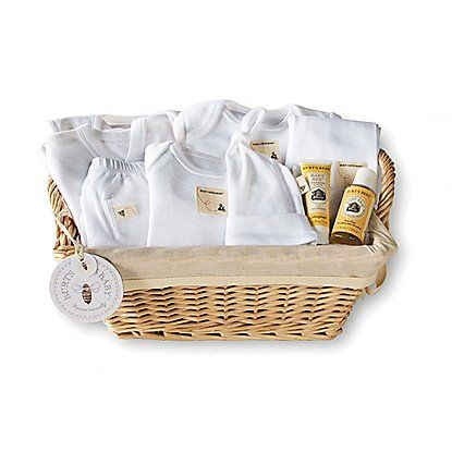 Burt's Bees Baby - 10 Piece Welcome Home Basket Gift Set: Color - Cloud $50.00
