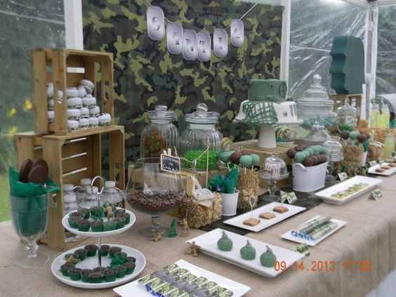 call of duty party dessert table - Google Search