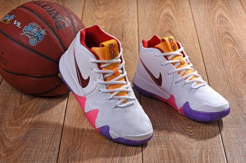 low priced 7055a 74605 New Nike Kyrie 4 White Purple Yellow-Pink - Mysecretshoes ...