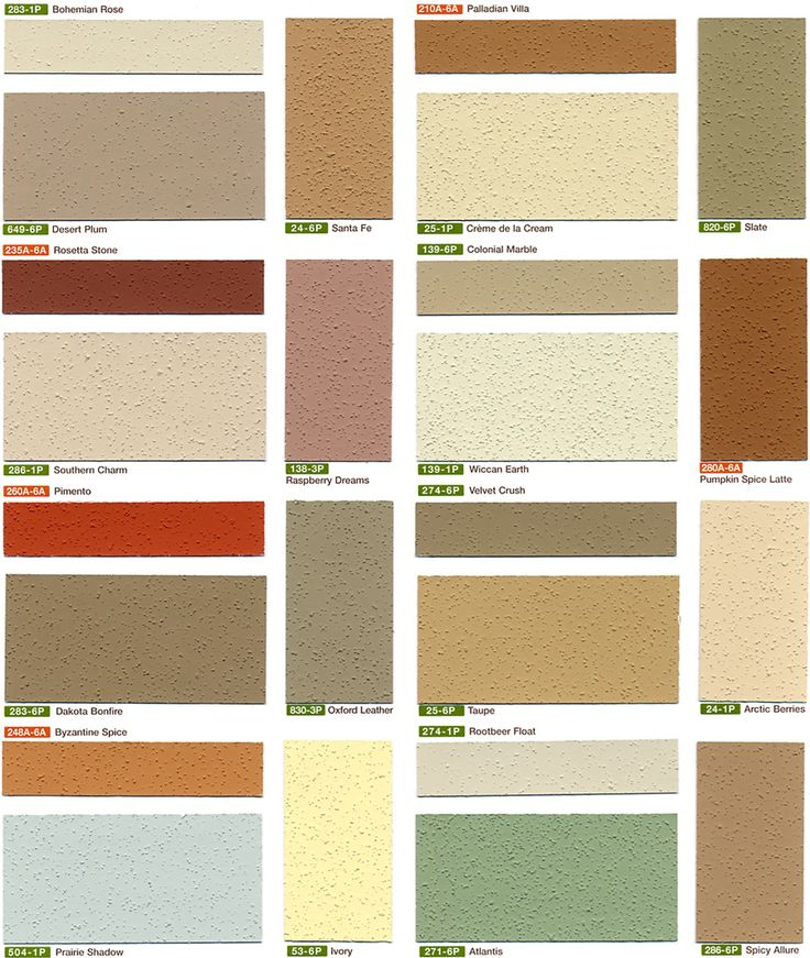 Stucco colors chart imasco color chart 3 m md for Stucco house paint colors