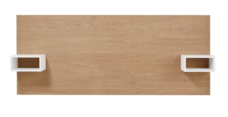 Tête de lit 160 avec rangements en chêne 160 cm Austral