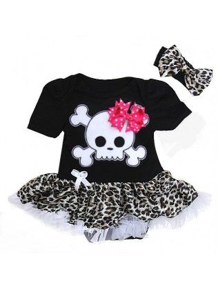baby girl skull nursery | Baby Skull Onesie Tutu Set