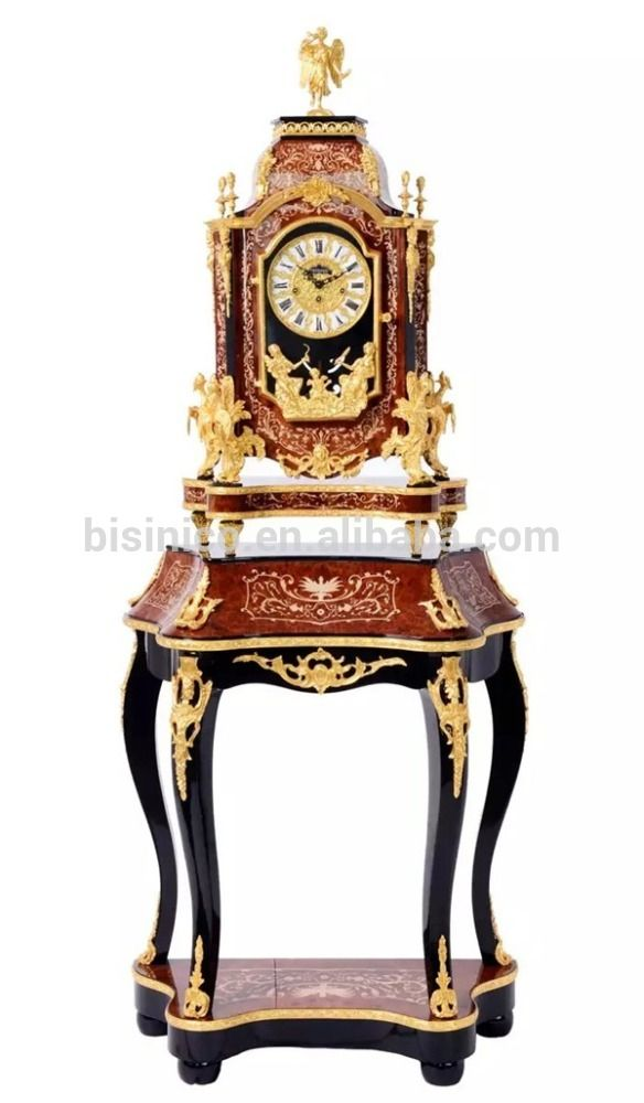 European Style Antique Wooden Table Clock With Table Luxury Brass Mouthed Clock For Home Decor View Wooden Floor Standing Clock Bisini Product Details F Uhren