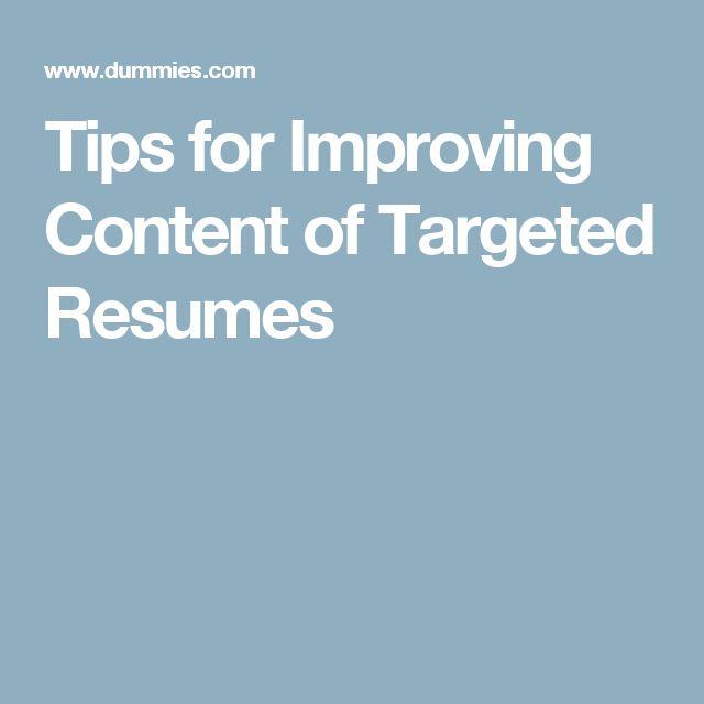 improving resumes