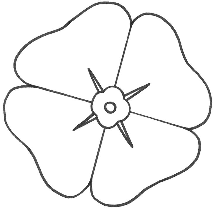 remembrance day poppies coloring pages - photo#21