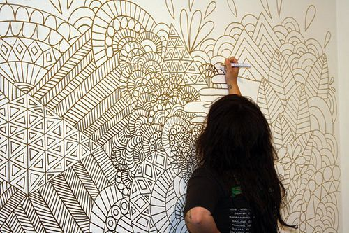 zentangle wall murals - Google Search