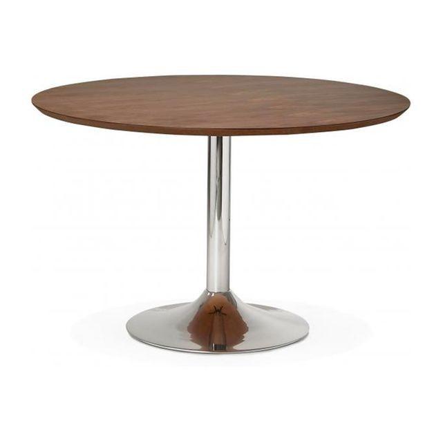 Caracteristique du Table à Manger Ronde Noisette Pied Métal D120 BARNET sur Declikdeco : Caractéristiques : - Matière :Bois- Couleur : Noisette (Plateau), Chrome (Pied)- Dimensions : L.120 x l.120 x H.77,5 cm- Poids : 60 kg