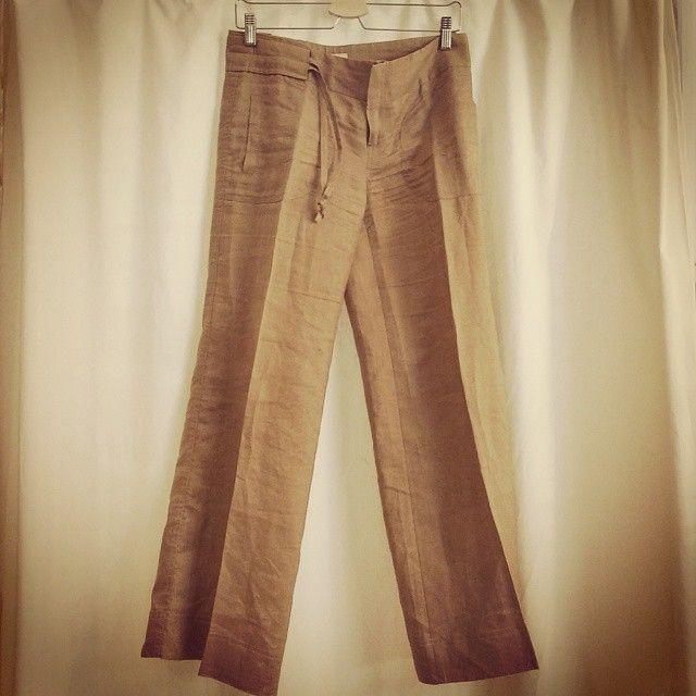 Pantalones de lino ZARA talla 38 por 8,50€