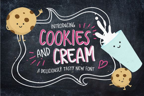 Cookies And Cream Typeface by Nicky Laatz on Creative Market