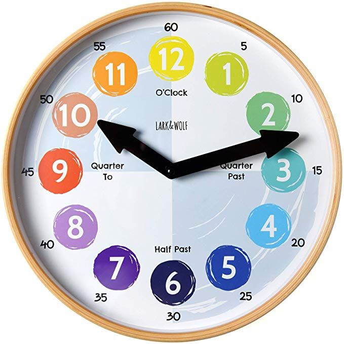 Telling Time Teaching Clock For Kids Learn To Tell The Time 12