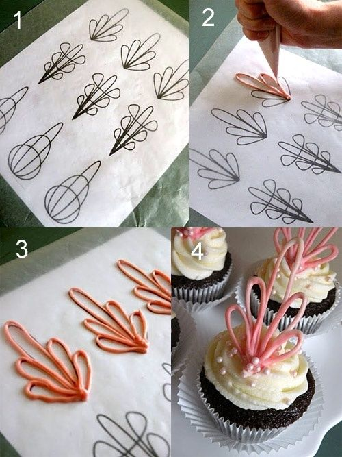 .cupcake toppers/royal icing transfers.