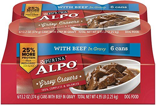 Purina ALPO Brand Dog Food Gravy Cravers With Beef In Gravy Variety Pack Wet Dog Food, 13.2 Ounce can, 6 Count Case (Pack of 2) >>> Click on the image for additional details.