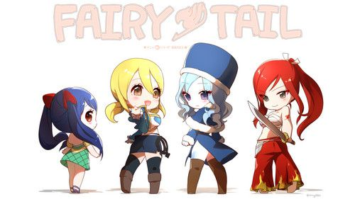 Fairy Tail images animé girl chibi fairy tail wendy marvell lucy ...
