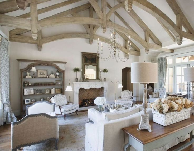 French Country Living Room Furniture & Decor Ideas (43)