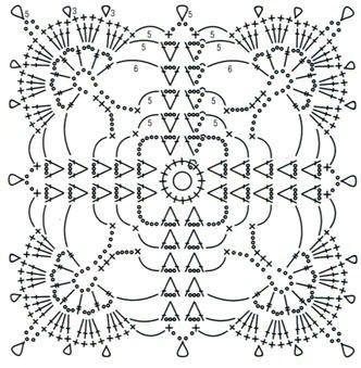 схема вязания мотива 12