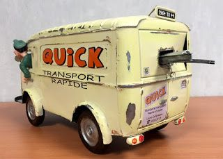 Gaston Lagaffe maquette camion transport Quick
