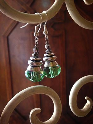 Handmade in Morocco in an ethically and environmentally friendly manner. Green sparkle earrings! oneearthbydanielle@gmail.com - Free shipping! Get these for $22.95 + tax Canadian